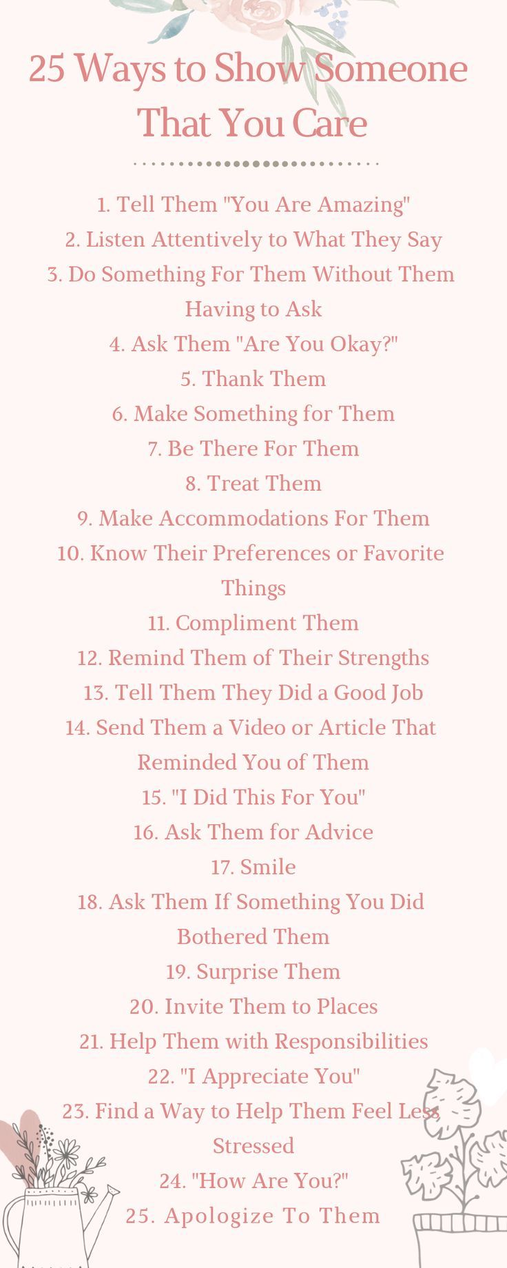 25 Ways to Show Someone That You Care – Personal Growth Tips