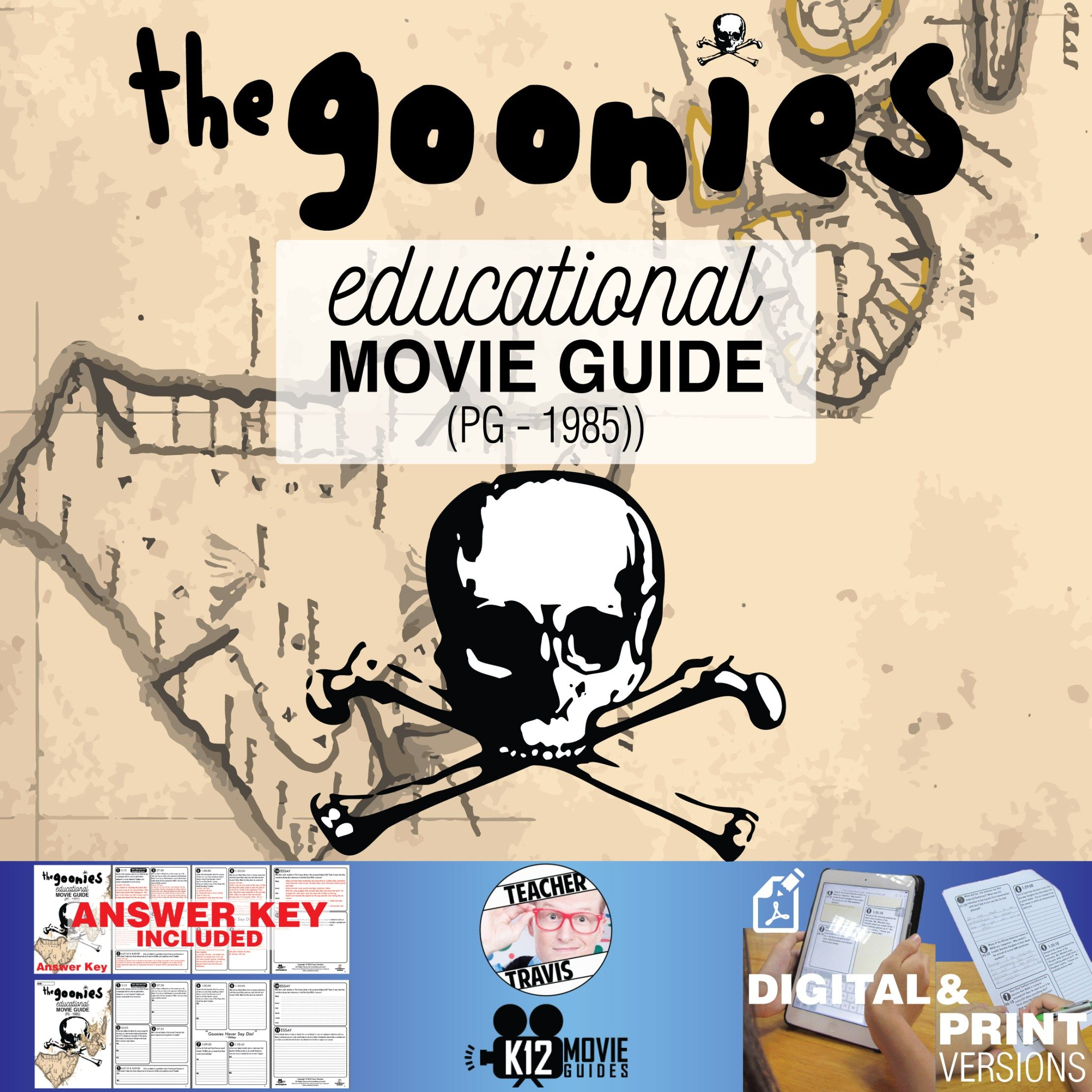 The Goonies Movie Guide Questions Worksheet Pg