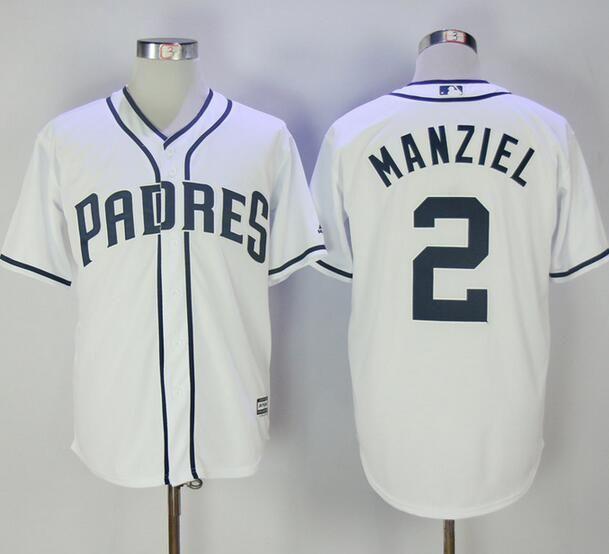 finest selection 2908a b93a3 MLB San Diego Padres 2 Johnny Manziel White Flexbase ...