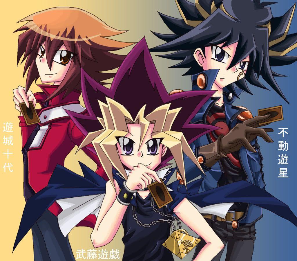Jaden, Yami, & Yusei