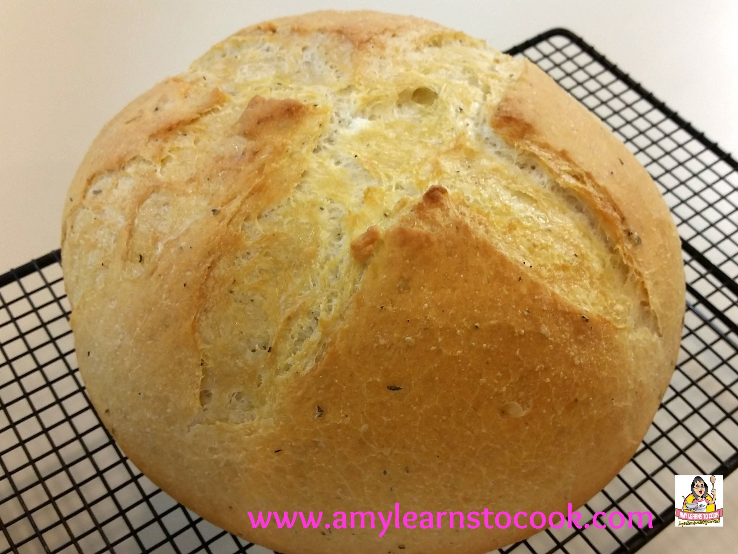 Garlic Herb Dutch Oven Bread Please Share And Subscribe To Amy