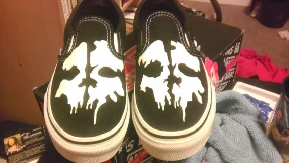 a134c413ee Vans Call of Duty Ghosts Shoe by GeekdroidsEmporium on Etsy