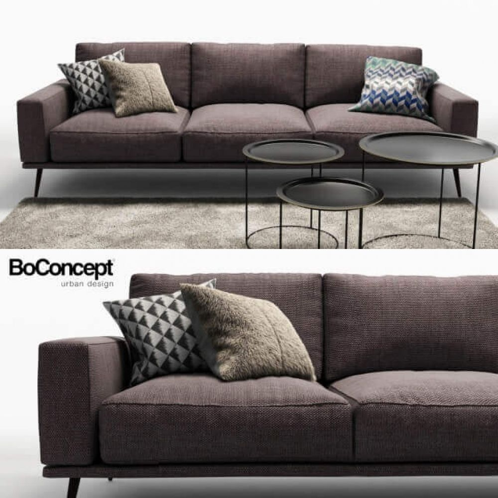 Boconcept Carlton Sofa 3d Model With Images Boconcept Sofa