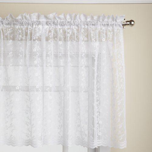 Lorraine Home Fashions Priscilla 60 Inch X 24 Inch Tier Curtain