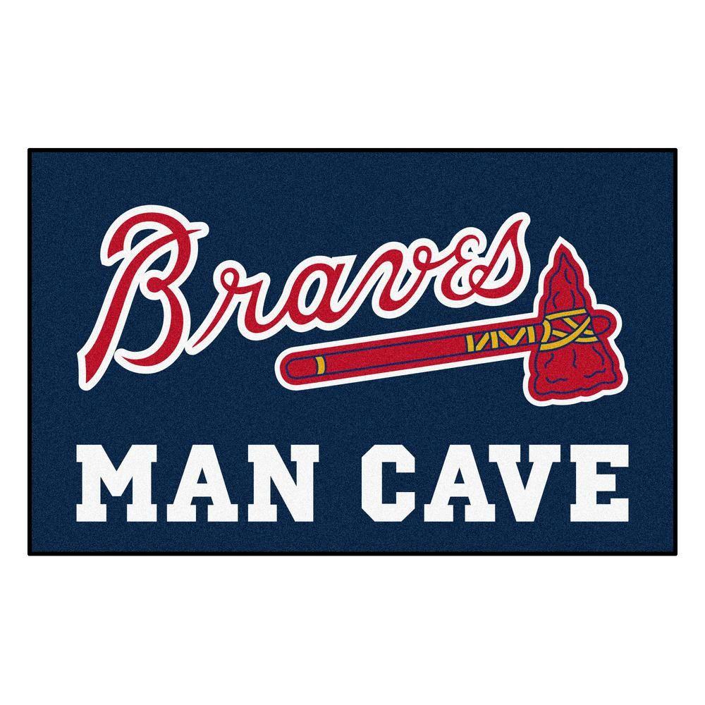 Fanmats Mlb Atlanta Braves Man Cave Ultimat 5 Ft X 8 Ft Indoor Area Rug 22378 Atlanta Braves Ultimate Man Cave Man Cave