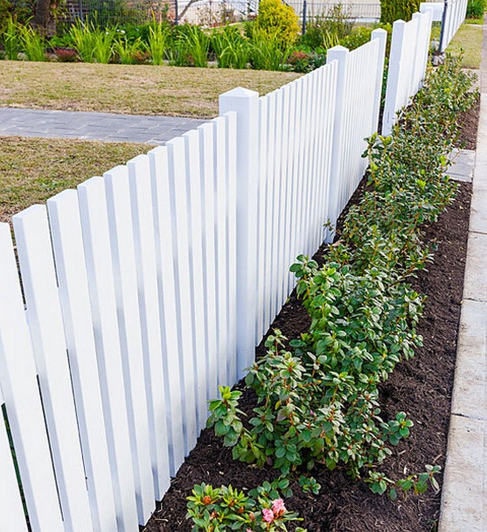 125 Attractive White Privacy Fence for Compliment your Outdoor Space ...