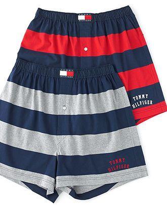 65c538d9a88d03 Tommy Hilfiger Underwear, Rugby Striped Boxer - Mens Underwear - Macy's