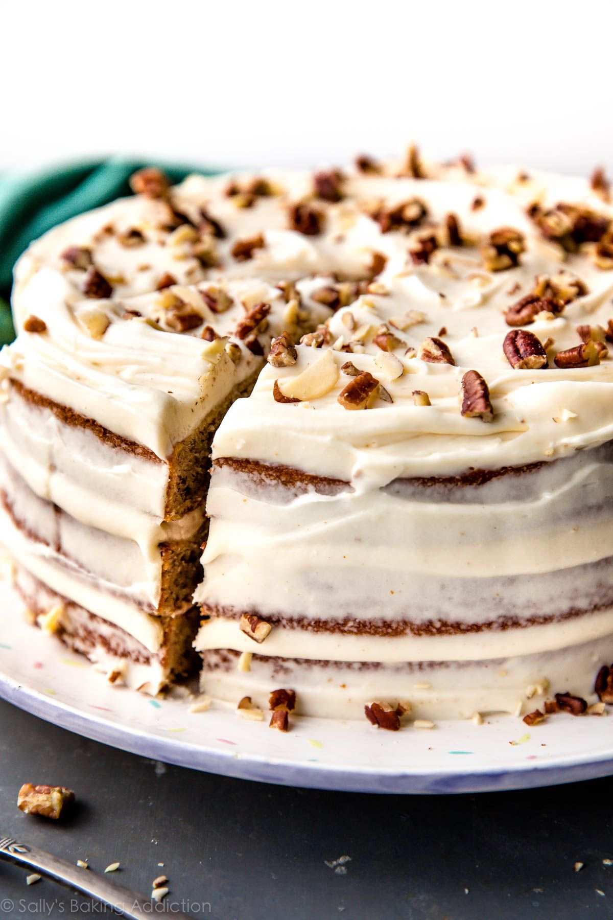 Best Banana Layer Cake Recipe With Brown Butter Cream Cheese Frosting So Easy To Make Moist Delicious Simple Homemade