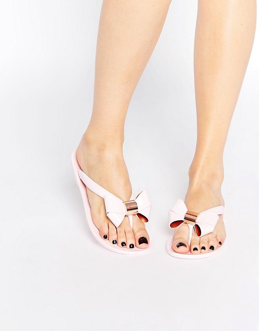 7698ec671 Fede Ted Baker Ettiea Pink Oversized Bow Flip Flops - Light pink Ted Baker  Sko til Damer i luksus kvalitet