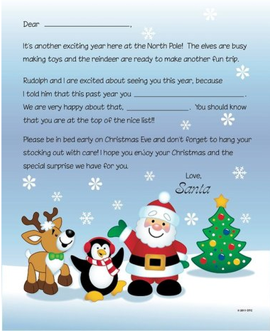 This Printable Letter From Santa Is Intended For Christian