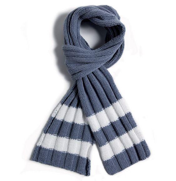 tricoter une echarpe rayee