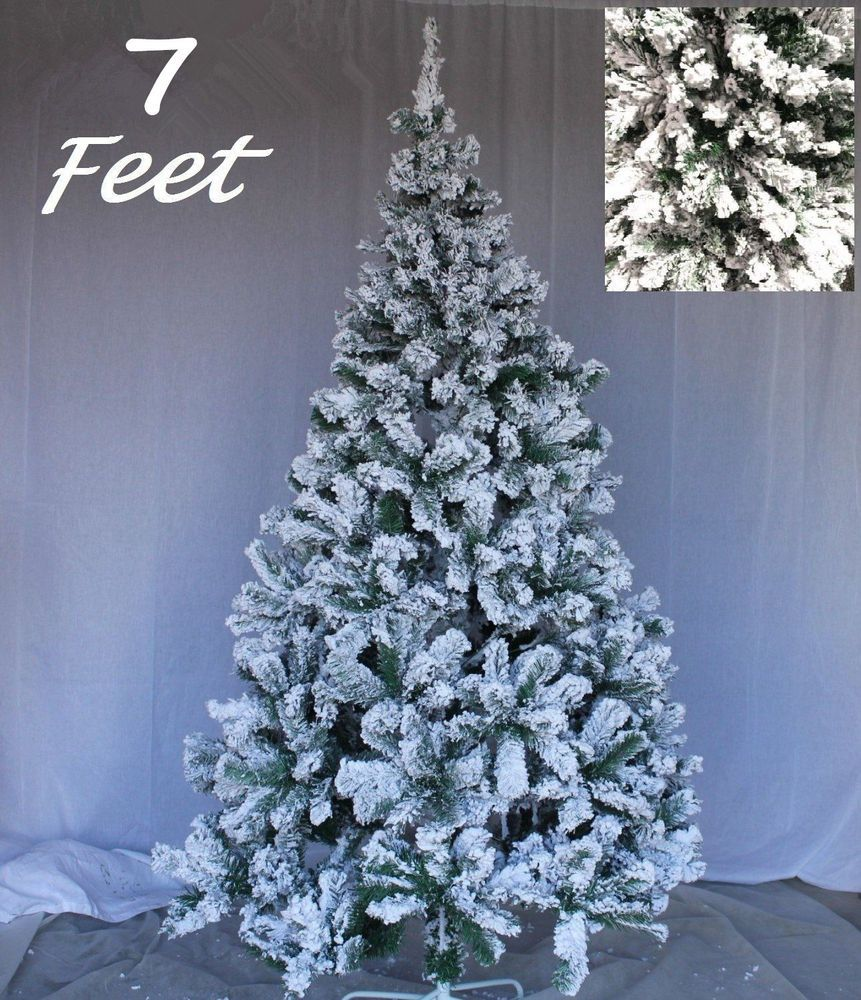 White Christmas Tree Frosted Christmas Tree Artificial Flocked Snow 7ft Frosted Christmas Tree Flocked Artificial Christmas Trees Real Christmas Tree