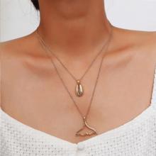 Photo of KATALINA | Cute golden Boho necklace collier Hawaiian sea shell wale tale tropical ocean Goldfarbene Boho Halskette Muschel Walschwanz Meer
