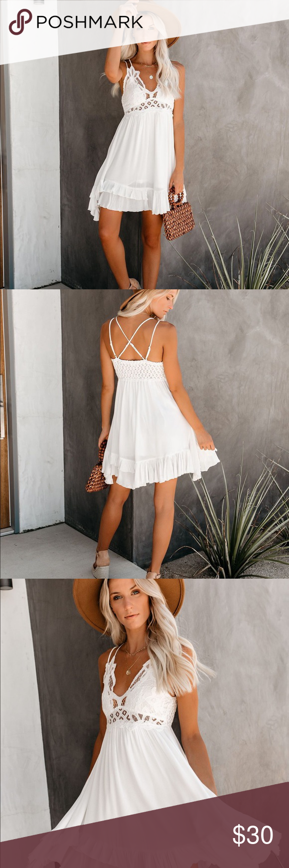 Vici Crochet White Dress Dresses Vici Dress White Crochet [ 1740 x 580 Pixel ]
