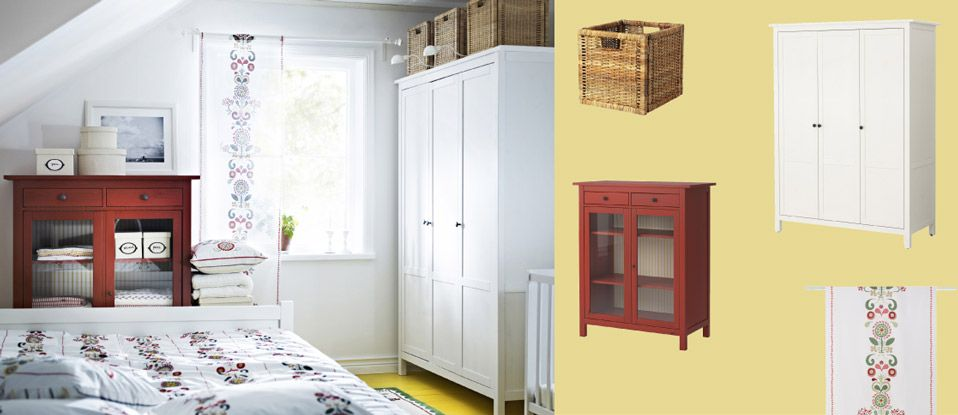 hemnes kleiderschrank weiss lasiert und hemnes w scheschrank rot mit glast ren hi ice. Black Bedroom Furniture Sets. Home Design Ideas