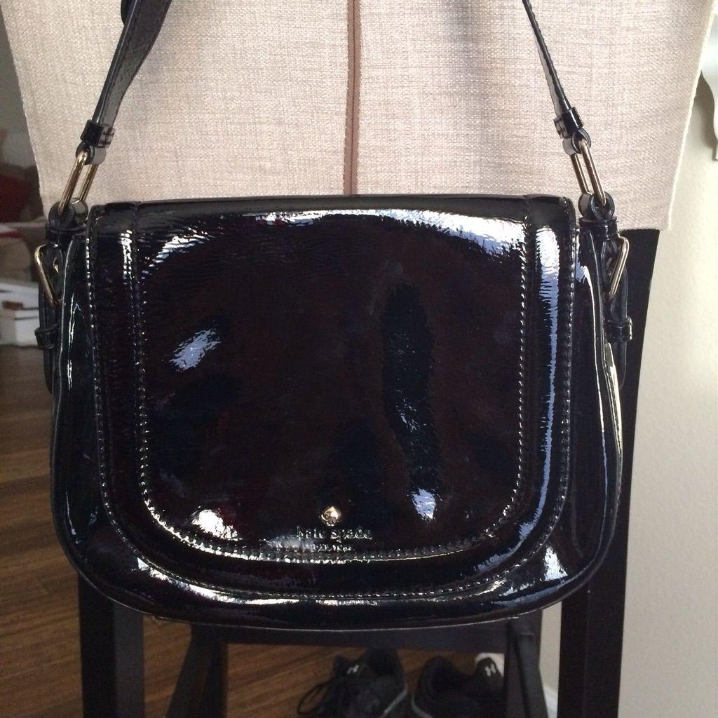 Kate Spade Black Patent Leather Purse