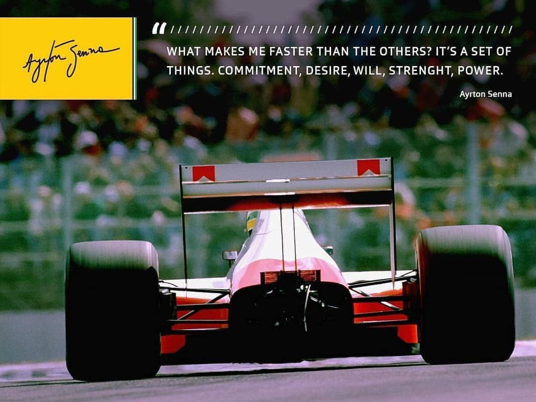 Faster Quotes Frase Senna F1 Positivevibes Racing Sp