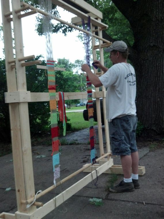 A Large Navajo Inspired Weaving Loom by KeylonStateParkLooms, $400.00