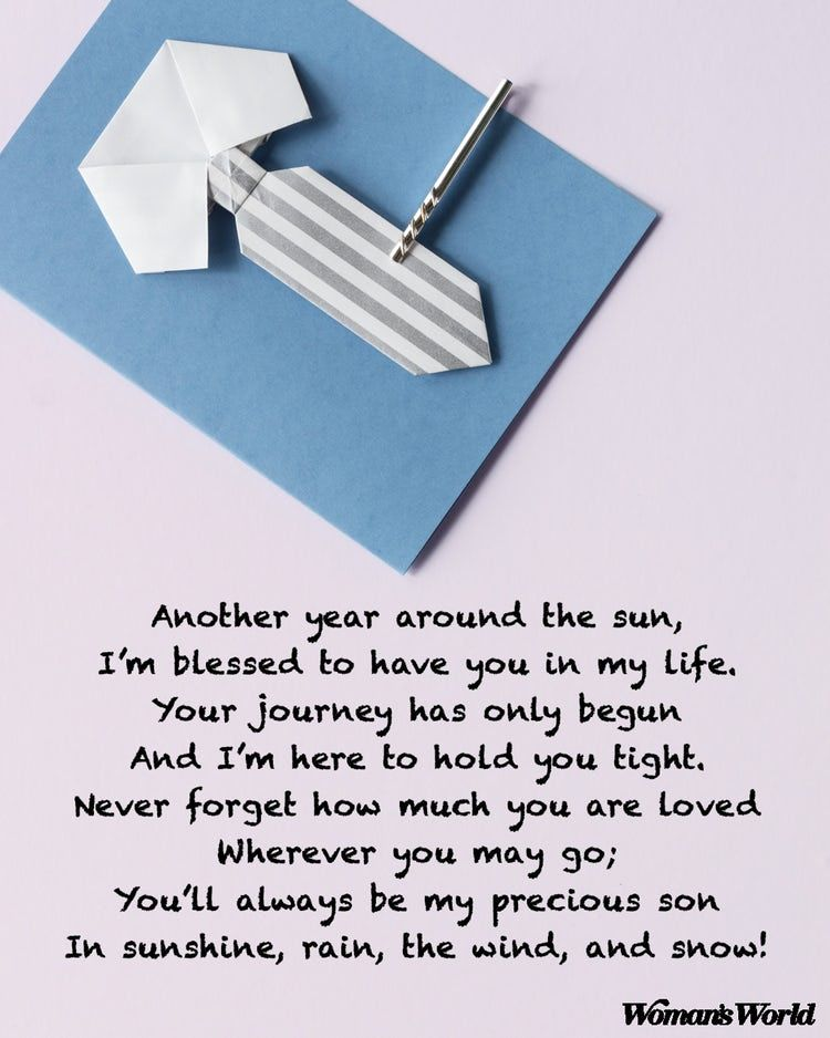 5 happy birthday poems for your son on his special day