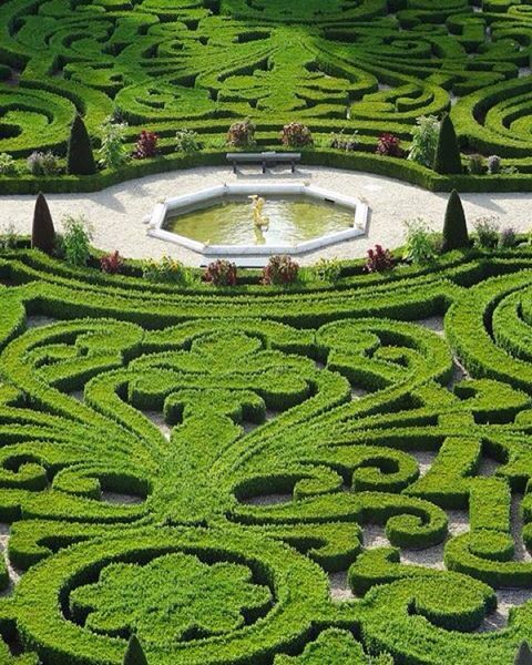 I really love a hedge maze or knot garden! The amount of ...