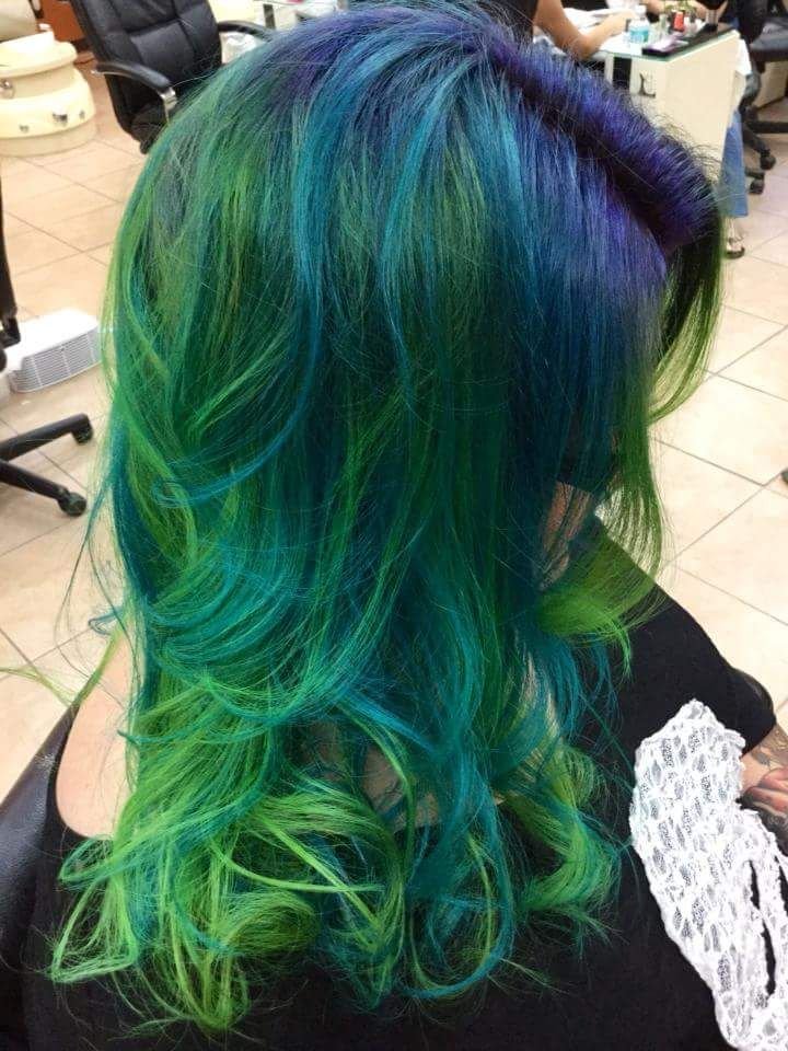 Pravana Neon Blue And Green Side View