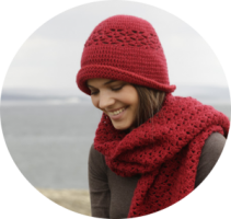 Amore Crocheted Scarf And Hat Set [FREE Crochet Pattern]