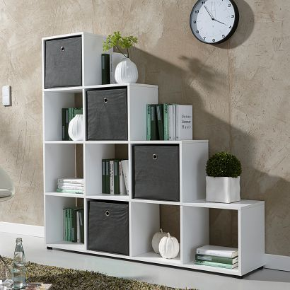 die besten 25 stufenregal wei ideen auf pinterest ikea regal wei kallax patricia. Black Bedroom Furniture Sets. Home Design Ideas