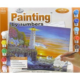 Royal Langnickel Waterside Lighthouse Painting By Numbers