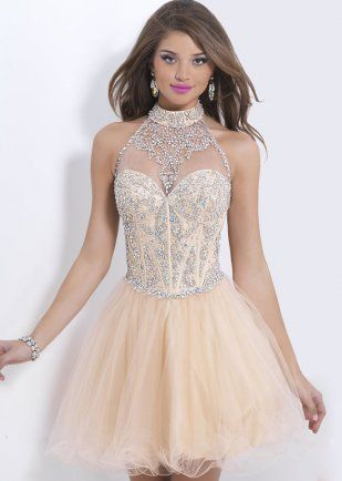 Champagne Rhinestone Dress