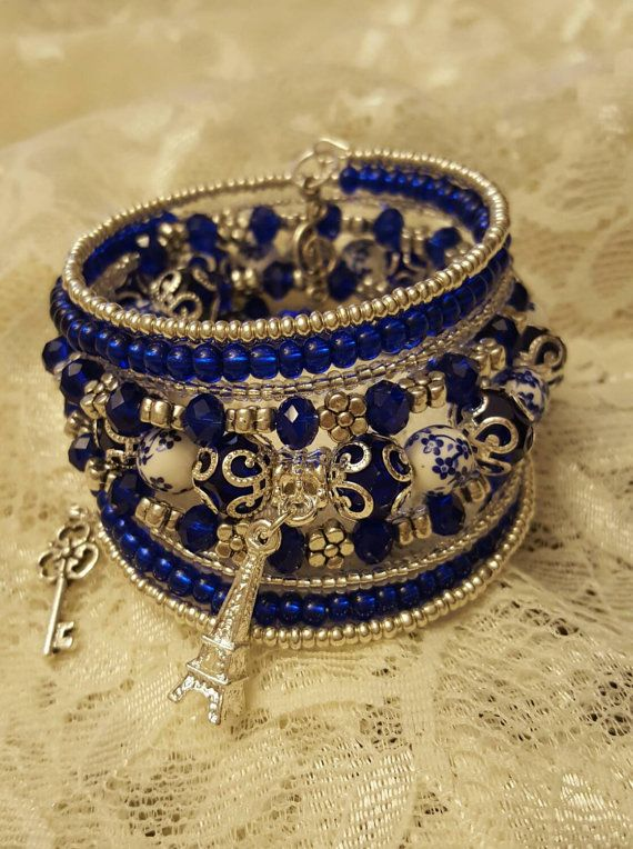Blue Moon Memory Wire Bracelet | DIY and crafts | Pinterest ...