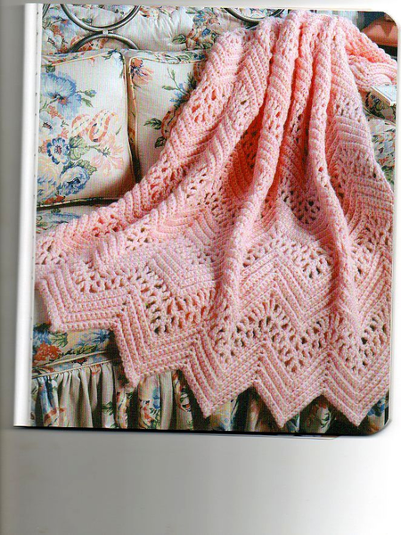 Victorian Lace Afghan Pattern Crochet Ripple Afghan