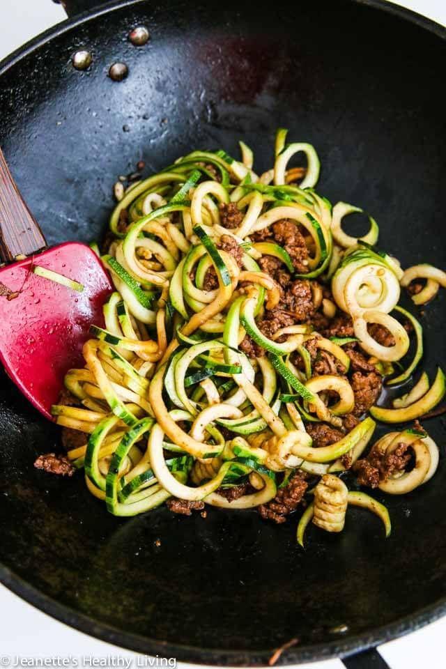 Photo of Chinese Five Spice Ground Turkey Zucchini Noo