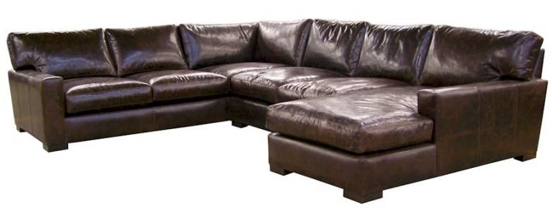 Napa Maxwell Oversized Seating Leather Sofa Set Leather Sectional Leather Sectional Sofas Leather Couch