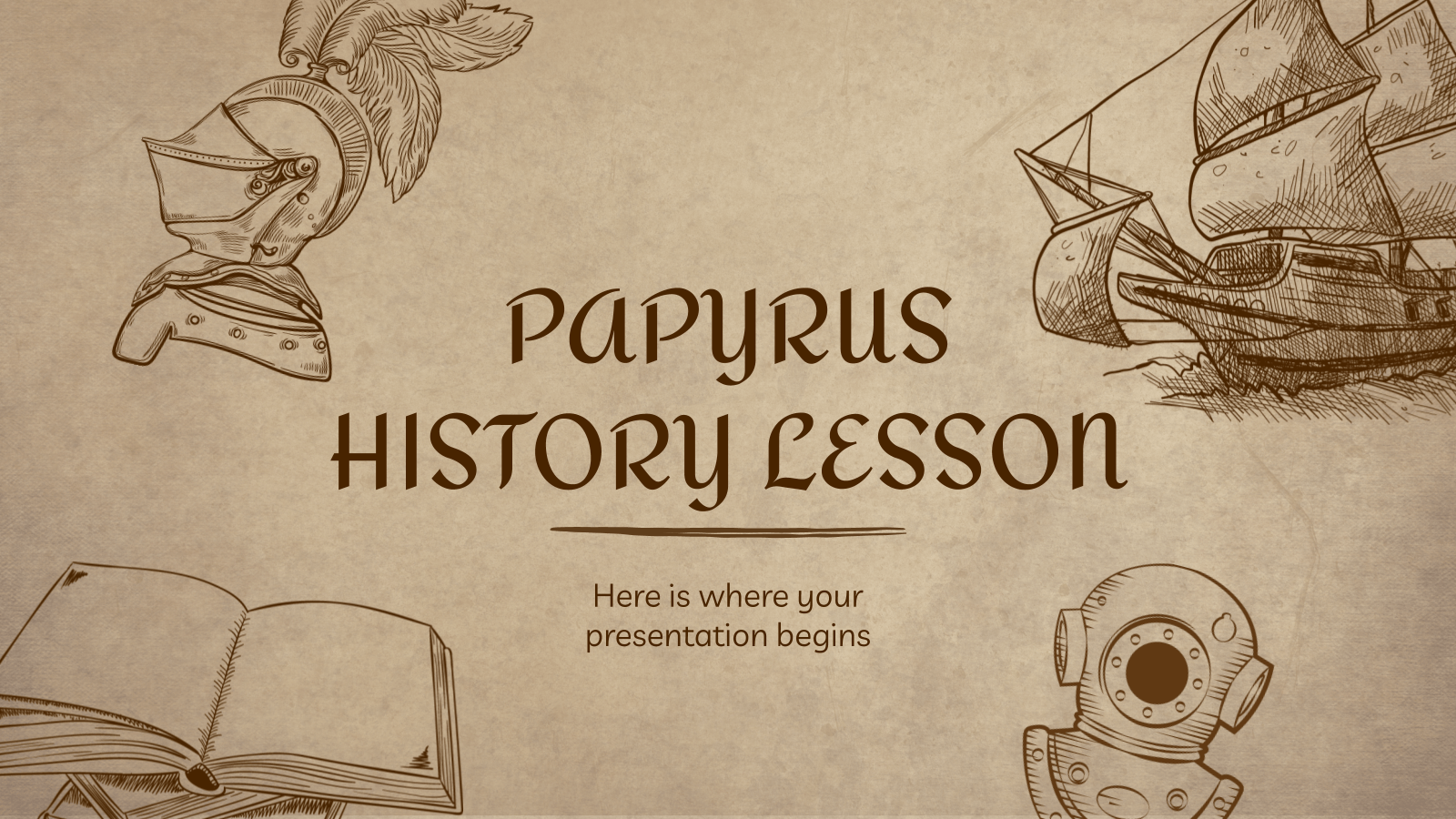 Papyrus History Lesson Google Slides Theme And Powerpoint Template History Lessons Google Slides Themes Ancient History Lessons