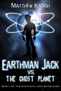http://bit.ly/2dmT12p -        Earthman Jack vs. The Ghost Planet by Matthew Kadish   Jack Finnegan only has to worry about school bullies and getting noticed by the girl of his dreams… at least until an army of evil aliens invade Earth. Suddenly, this teenager finds himself at the center of a galaxy-spanning conflict – where the lives of everyone on the planet are in jeopardy, soldiers use Quantum Physics to become superheroes, and the enemy uses magic to make th