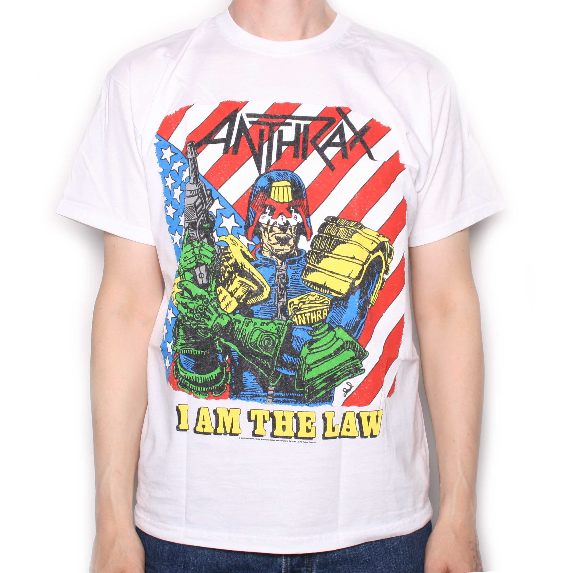 e1cb25c6c Anthrax T Shirt - I Am The Law 100% Official Cultura Pop