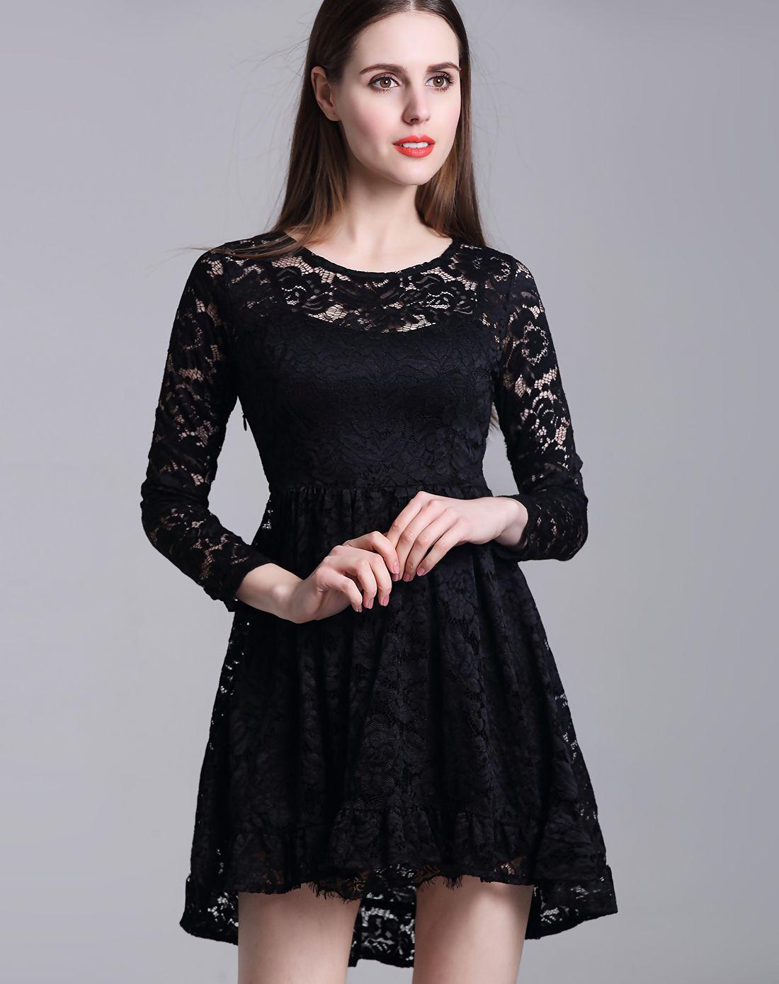 Adorewe vipme aline dressesdesigner bkmgc black lace cutout