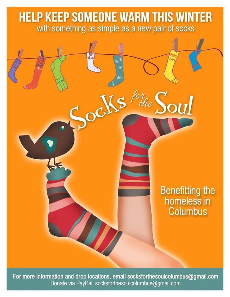 Providing new socks for the homeless. (With images
