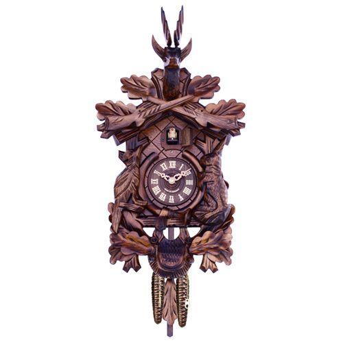 His 16 hunter 39 s style german quartz cuckoo clock by river - Wooden cuckoo clocks ...