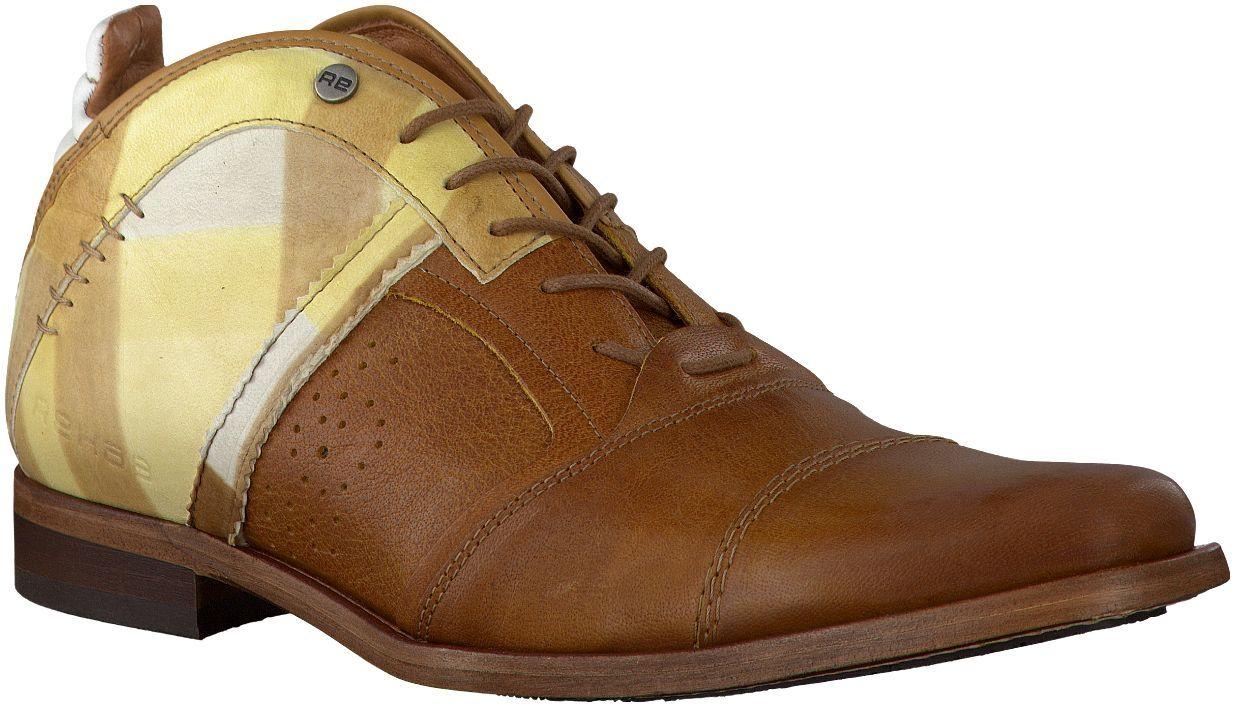 Cognac Rehab geklede schoenen SULTAN CHECKER