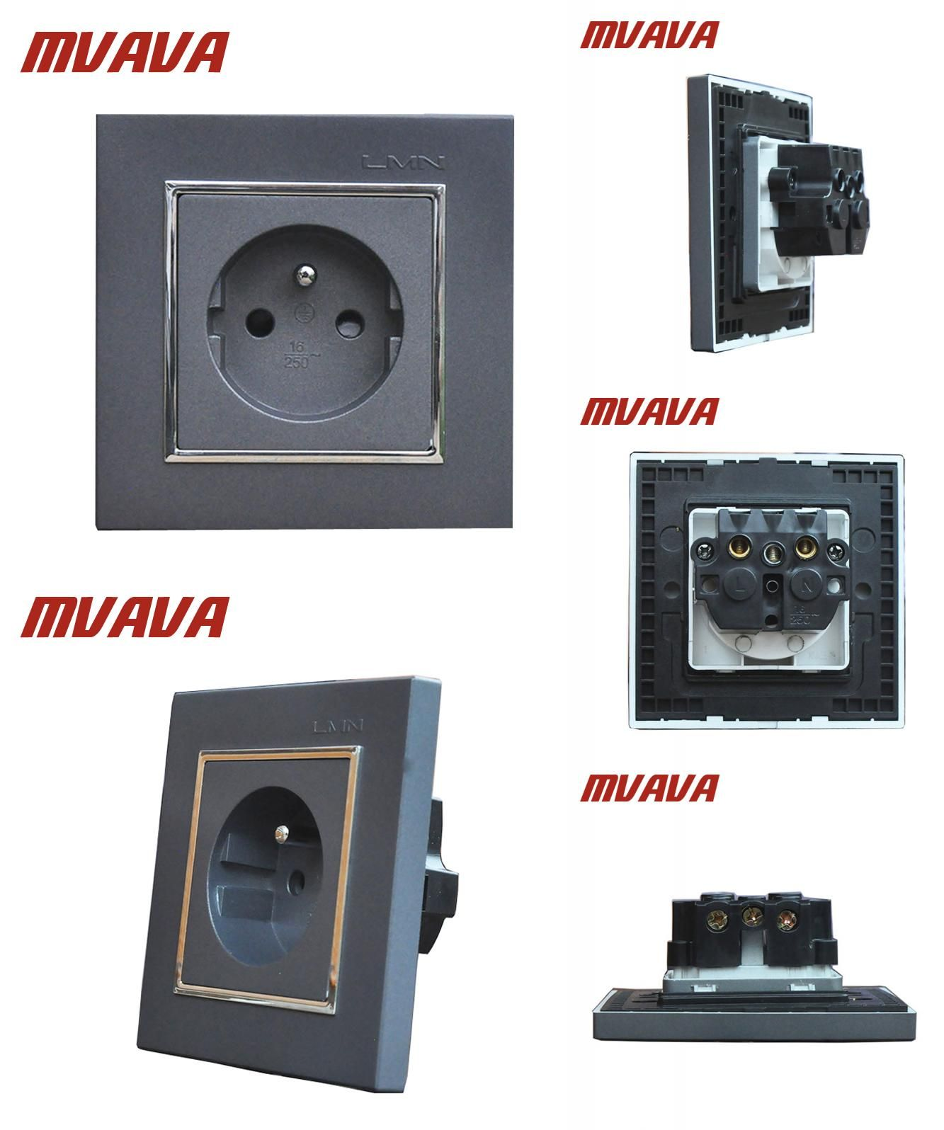 Visit to Buy] MVAVA French Standard Wall Power Socket Electrical ...