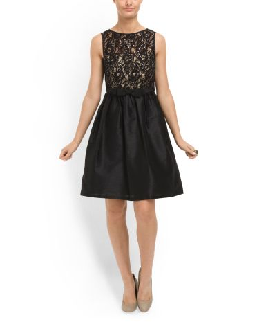 165253ff6f Black Lace Top Flare Skirt Dress  59.99 at TJMaxx