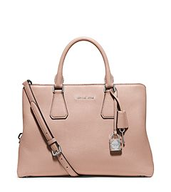 7bca7f432e67 MICHAEL Michael Kors Camille Large Leather Satchel   IN THE BAG ...