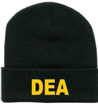 DEA drug enforcement agency funny TURN UP beanie hats- 2 colours (Black)   Amazon.co.uk  Clothing £2.99 + £2.99   £5.98 03c39886160