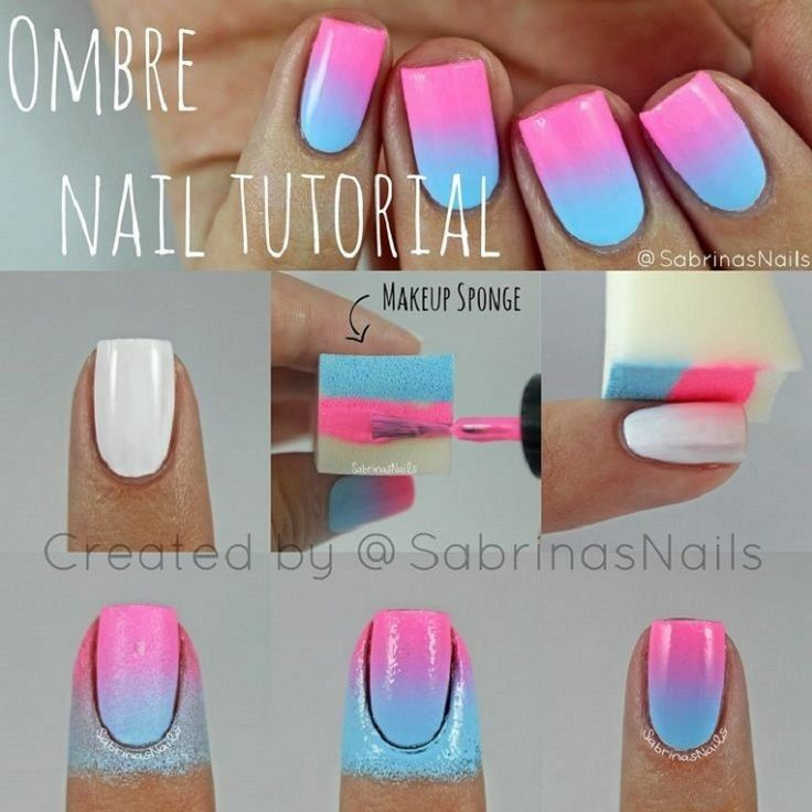 Ombre nail art | Nail Art | Tutorial | And jewellery | | Pinterest ...