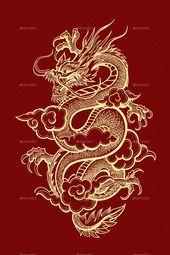 Photo of Aperçu du Dragon chinois traditionnel – GraphicRiver Chin traditionnel …
