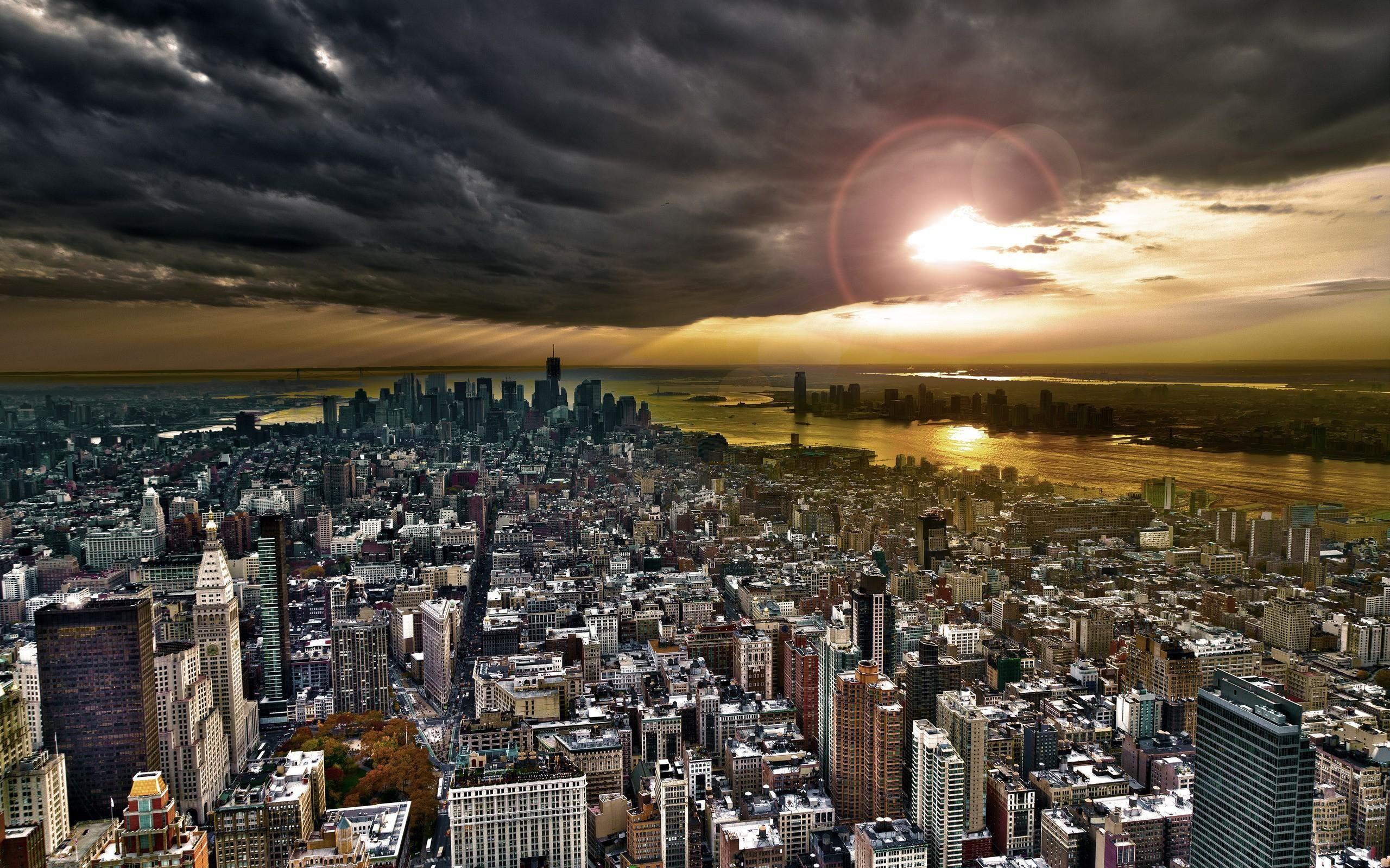 New York City Skyline Wallpaper 4K Fotos, 1080p, Preto e
