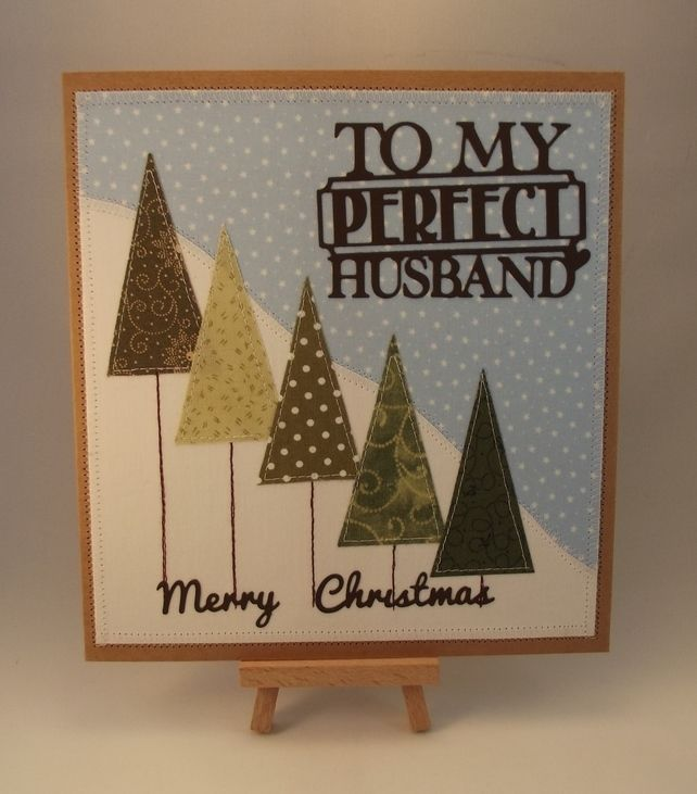 merry christmas to my perfect husband fabric greetings