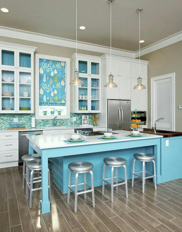 Beautiful Details In This Blue Kitchen True Blue Turquoise