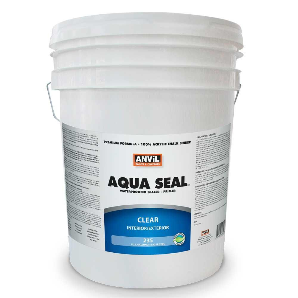 Anvil 1 Gal Aquaseal Waterproofer Bonding Primer Interior Exterior Acrylic Clear 023501 The Home Depot Elastomeric Roof Coating Waterproofers Roof Coating